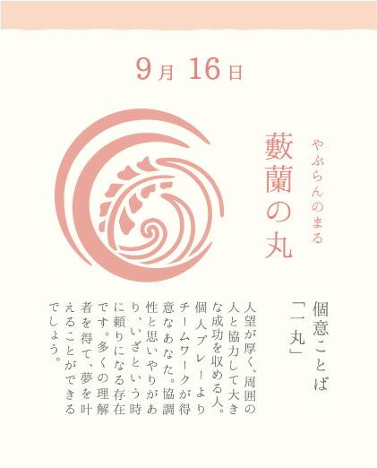 9月16日 藪蘭の丸(やぶらんのまる)