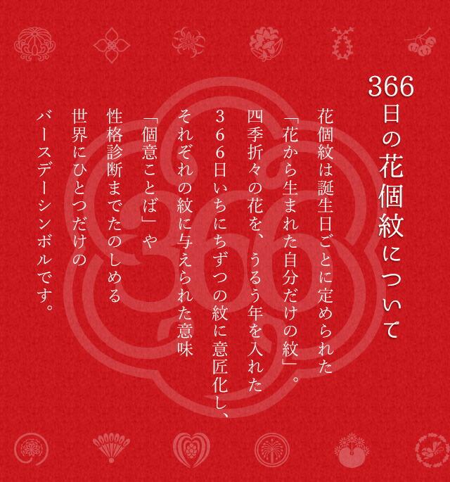 366日の花個紋について