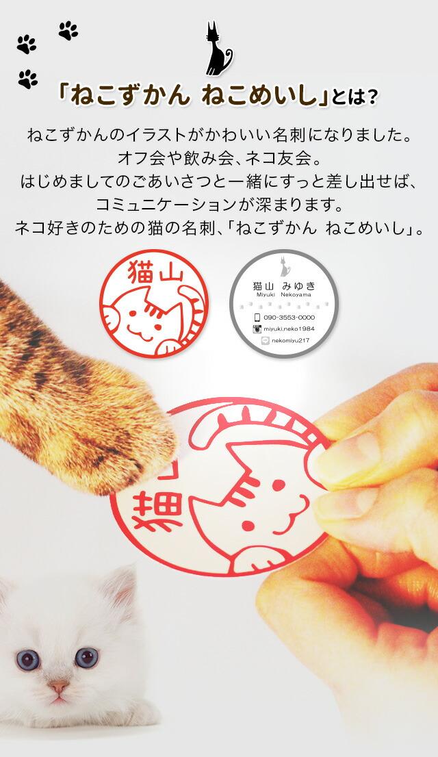ねこずかんのイラストがかわいい名刺になりました。オフ会や飲み会、ネコ友会。はじめましてのごあいさつと一緒にすっと差し出せば、コミュニケーションが深まります。ネコ好きのための猫の名刺、「ねこずかん ねこめいし」。