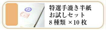 漢字用特選手漉き半紙お試しセット9種×各10枚
