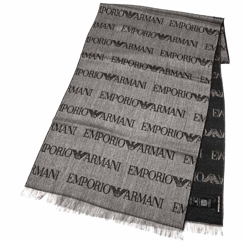 エンポリオアルマーニ Emporio Armani マフラー ブラック 625019-6A324