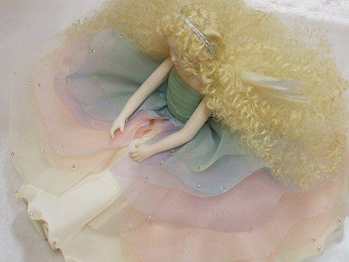 【楽ギフ_のし】 贈答 虹の妖精人形♪エルフィンフローリー:イリス 創作人形 【楽ギフ_包装】 結婚祝 若月まり子 【送料無料】 ビスクドール 記念品 出産祝 ギフト 御祝