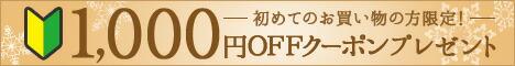 1,000円分ポイントプレゼント!