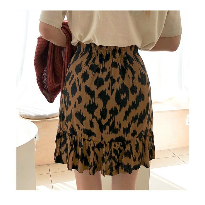 かわいい/レオパードスカート