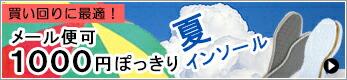 夏インソール1000円ぽっきり