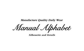 【Manual Alphabet】マニュアルアルファベット