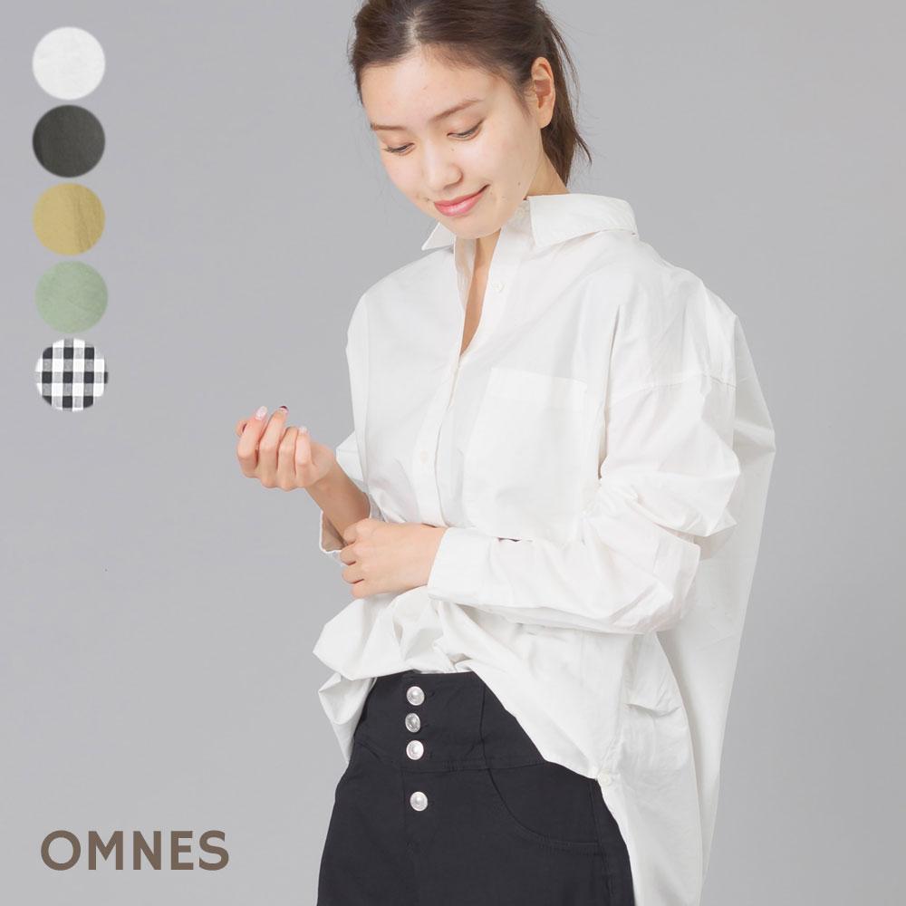 タイプライター ウォッシャブル襟抜きビッグシャツ