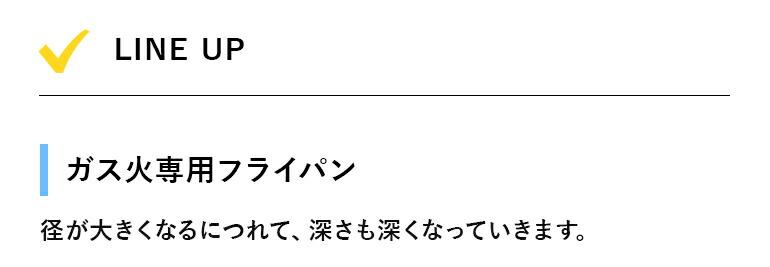 LINE UP ガス火専用