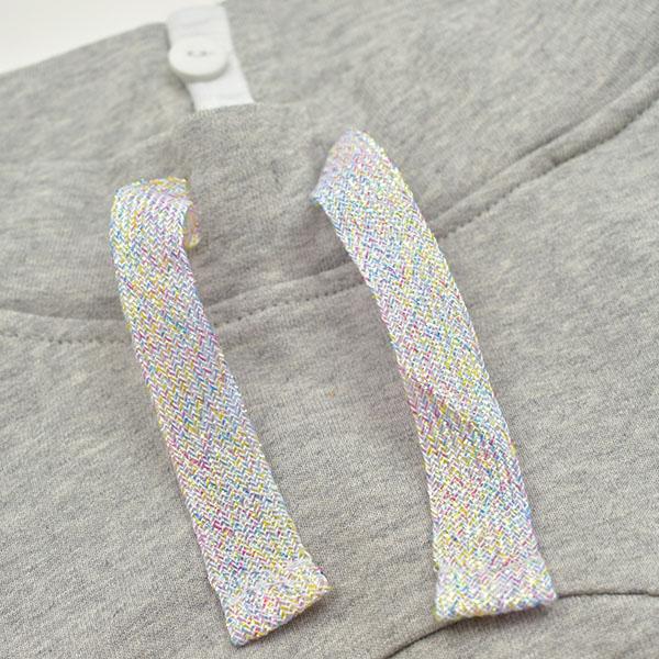 11b6cec890567 ドイツのファッションレーベルnyani(ニャニ)のオーガニックコットン ベビー スウェットパンツです。  足が長くみえる切り替えが印象的♪赤ちゃんのモンキーパンツ風 ...