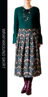 moda Japan ウィリアム・モリス ストロベリー・シーフ 仕立て 和モダン 巻きスカート