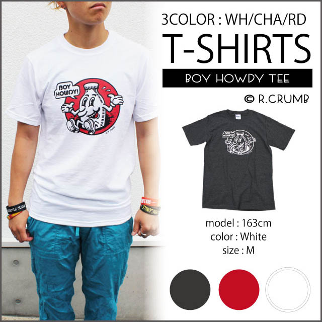 a12878c7701e R.Crumb-BOY HOWDY-TEE ☆ WHITE / white / CHARCOAL / charcoal / RED / Red