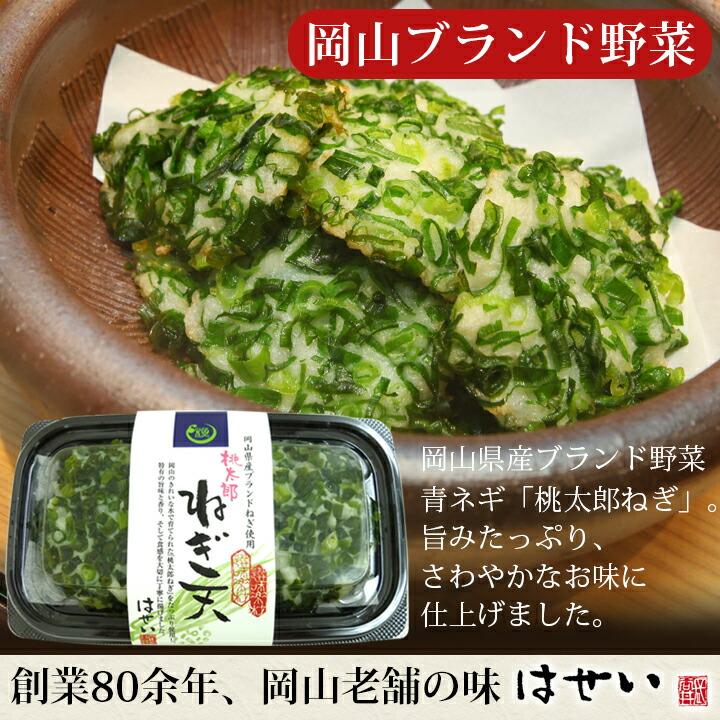 厳選さつま揚げ選味素材桃太郎ねぎ天岡山県産ブランド野菜使用 揚げかま・練り物