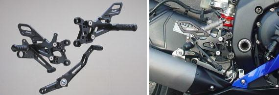 ストライカー ARATAスペシャルステップキット ブラックアルマイト仕様 / YZF-R6 06- 6ポジション【SS-AA277B】