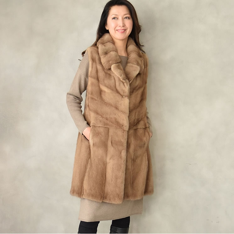 4e850253c4df9 Hayashiguchi  The SAGA pastel mink best long best! The (MB2376 ...