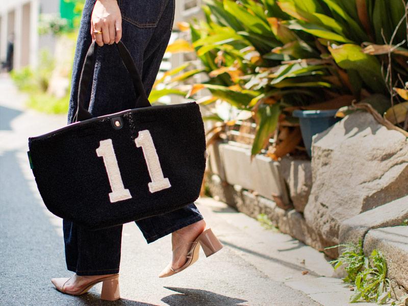 ナンバー11 ボア 舟形トートバッグ【bearia L  ベアリア Lサイズ】 大きい A4 通勤通学