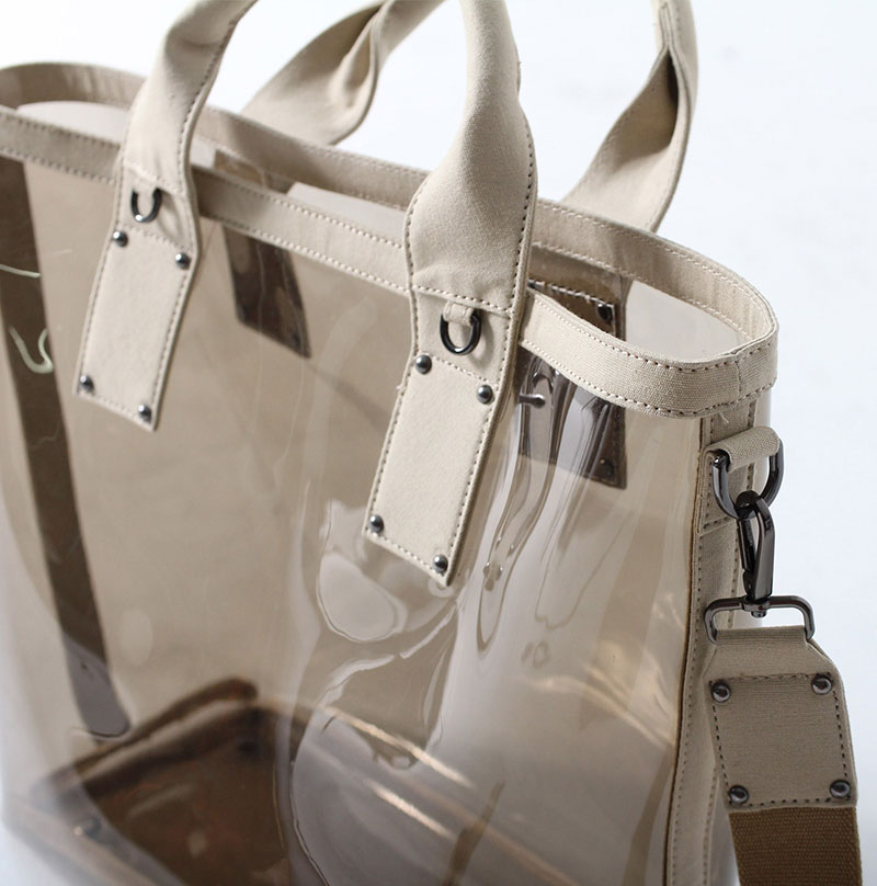 PVC バッグ 透明 クリア バッグ 巾着 PVC トートバッグ ビニールバッグ クリアバッグ