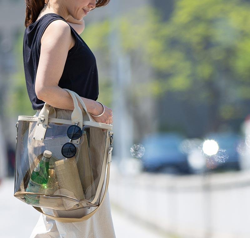 PVC バッグ 透明 レディース ブランドバッグ インスタ 大人 人気 HAYNI ヘイニ