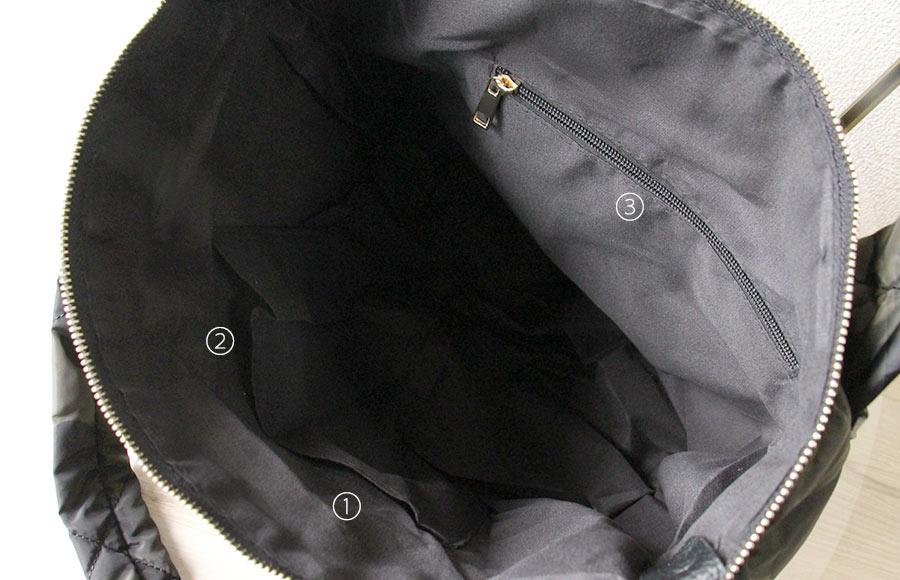 ナイロンバッグ トートバッグ 迷彩 ブラック
