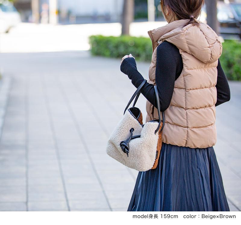 レオパード  ボア×バイカラー 3WAYショルダーバッグ【 zigale ジガレ 】by HAYNI