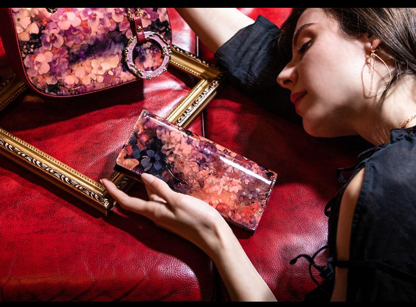 モネの絵画のような財布/長財布