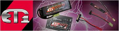 ET1 Lipoバッテリー&充電
