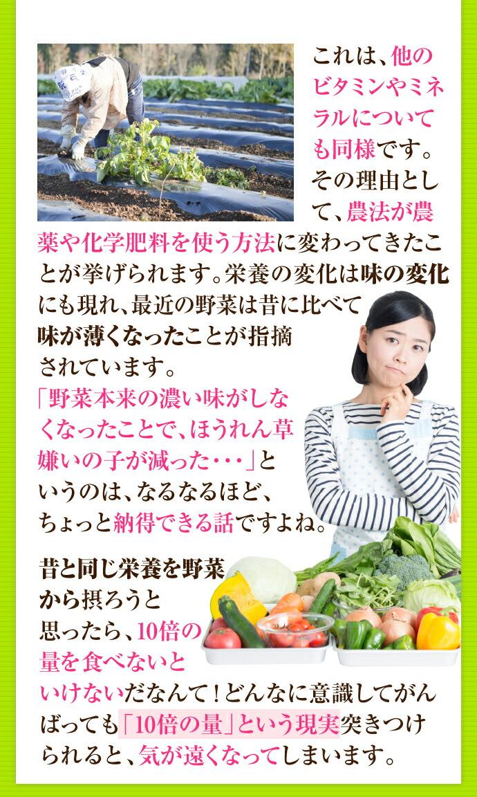 野菜はちゃんと食べてますか?