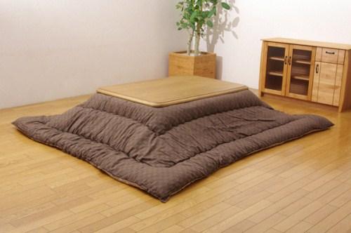 イケヒココーポレーション インド綿 こたつ厚掛け布団単品 クレタ ブラウン 205×205cm