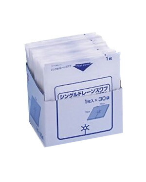 白十字 シングルドレーンスワブ-滅-1枚入×30袋 一般医療機