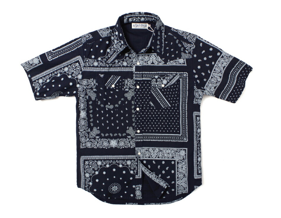 半袖シャツ/メンズ/ウエスタンシャツ