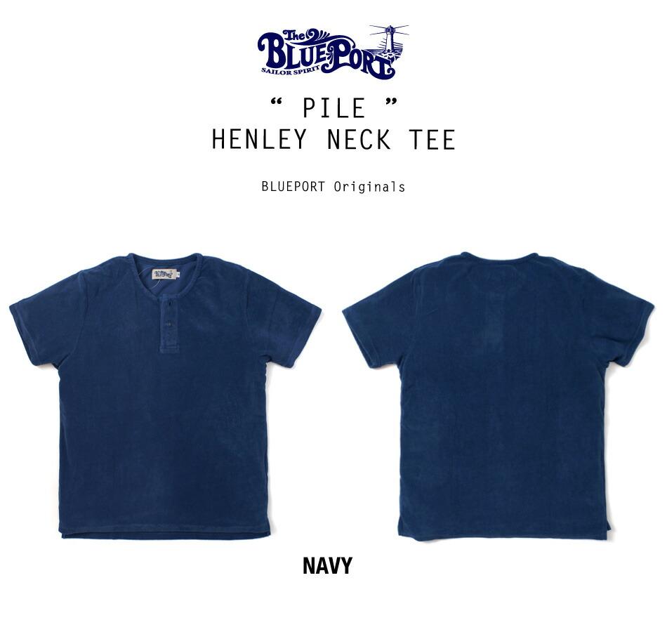 tシャツ/メンズ/パイル/サーフ/ヘンリーネック