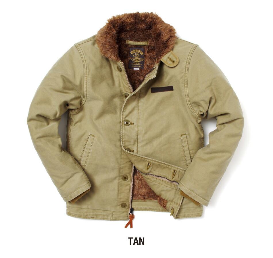 ユーズド加工N-1デッキジャケット