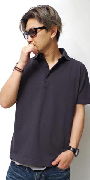 ビンテージ加工ポロシャツ
