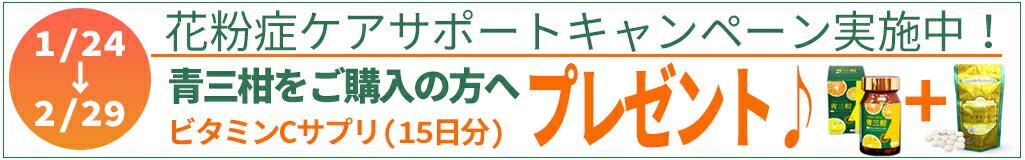 花粉症ケアサポートキャンペーン1/24-2/29
