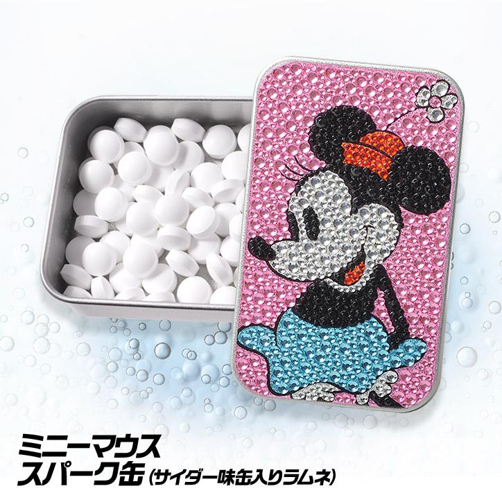 ミニーマウス スパークスカン ディズニー ラムネ入りのキラキラ缶(キラキラカン)