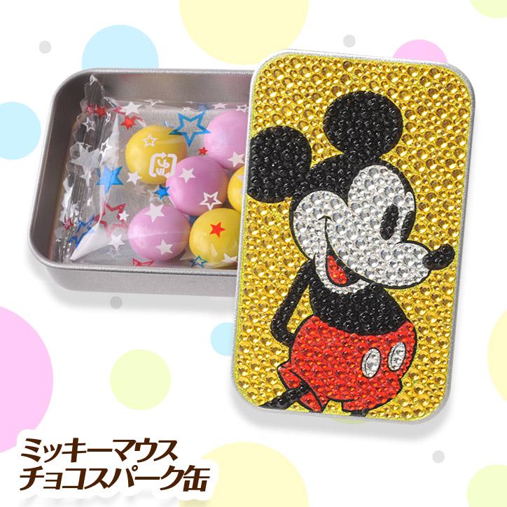 【チョコレート】 ミッキーマウス チョコスパークカン(キラキラカン) ディズニー