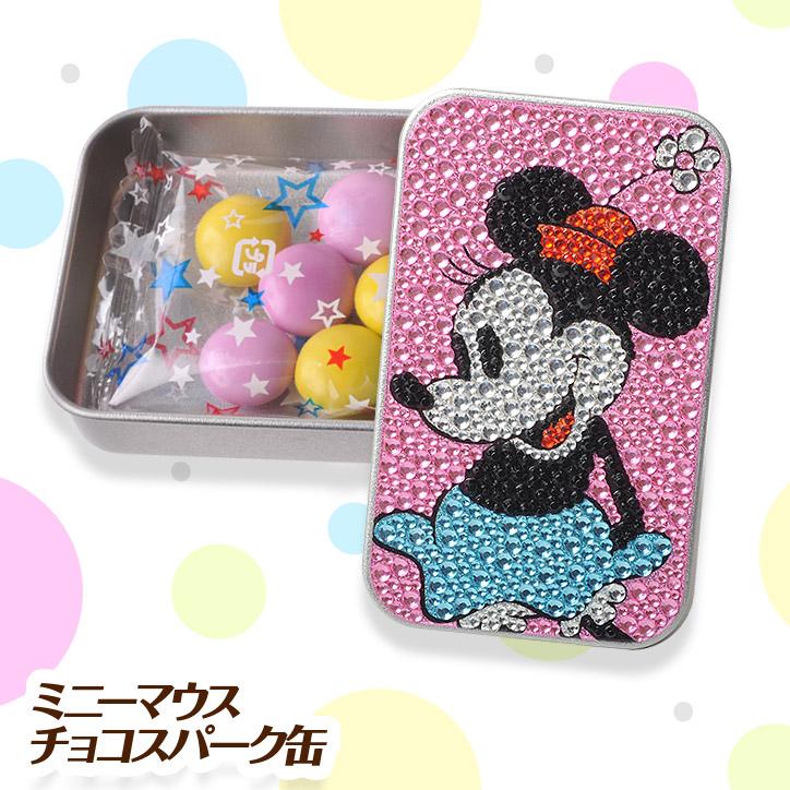 【チョコレート】 ミニーマウス チョコスパークカン(キラキラカン) ディズニー