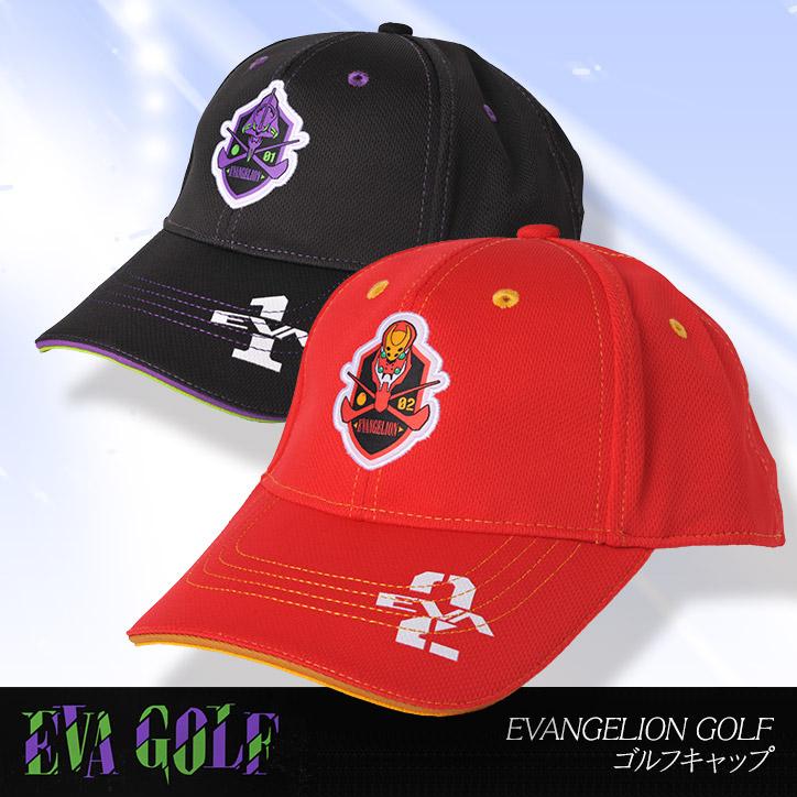 エヴァンゲリオン キャップ(帽子) EVANGELION GOLF  エヴァゴルフ
