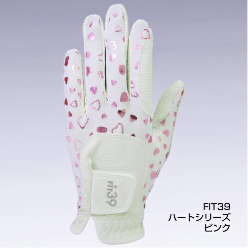 フィット39/FIT39 レディース/女性用 ゴルフグローブ ハートピンク ミック/MIC