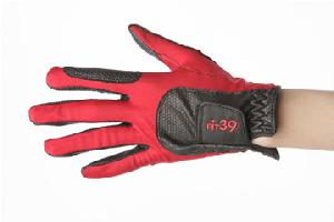 FIT39(フィット39) ゴルフグローブ 赤/黒  左手用・右手用
