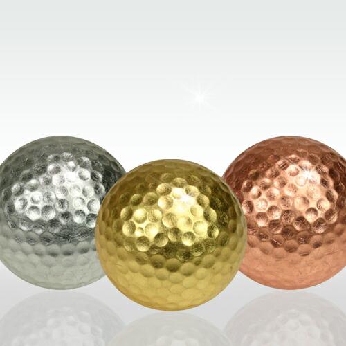 金・銀・銅箔ゴルフボール メダリスト3個セット