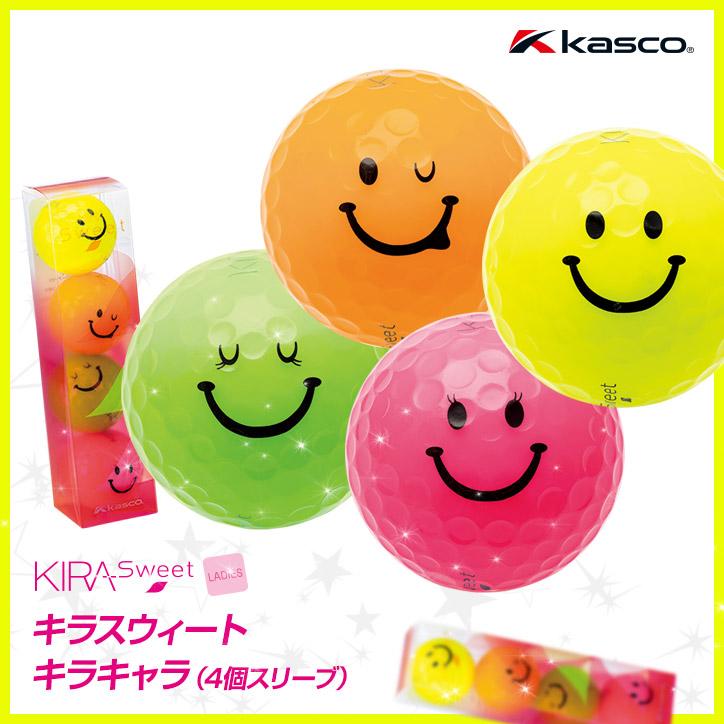 キラスウィート キラキャラ ゴルフボール(4個スリーブ) KIRA Sweet