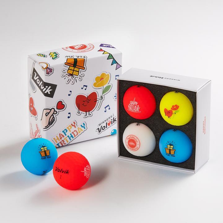 ボルビック VOLVIK VIVID バースデーパック ゴルフボールギフトセット 4個入り