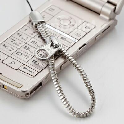YKKジッパーストラップ 携帯ストラップ(大) シルバーカラー AM-302/BK AM-302/WH