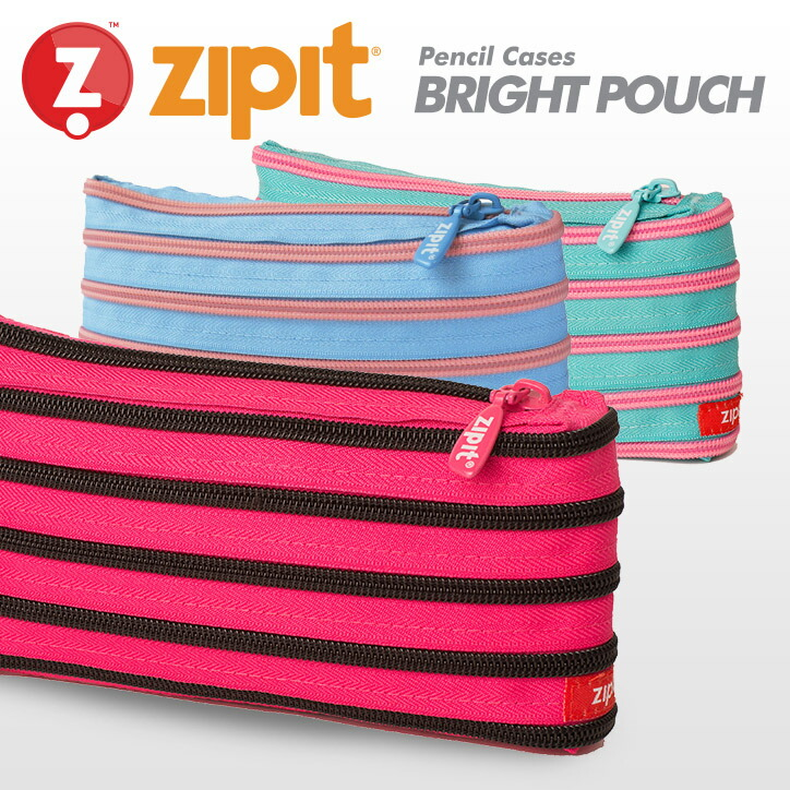 ジップイット ブライトポーチ zipit Bright Pouchl Pencil Case ZP-ZMb-R