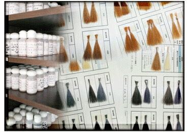 製造原料×発色試験