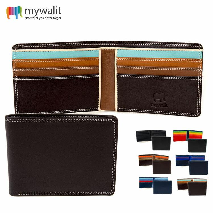 mywalit MEN'S カーフ レザー カードケース 2つ折り 財布 メンズ MY1018