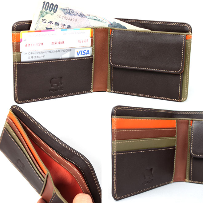 マイウォレット カラフル 2つ折 財布