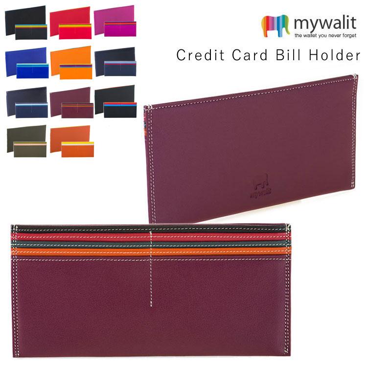 mywalit カーフ レザー クレジットカード&お札ホルダー MY1264
