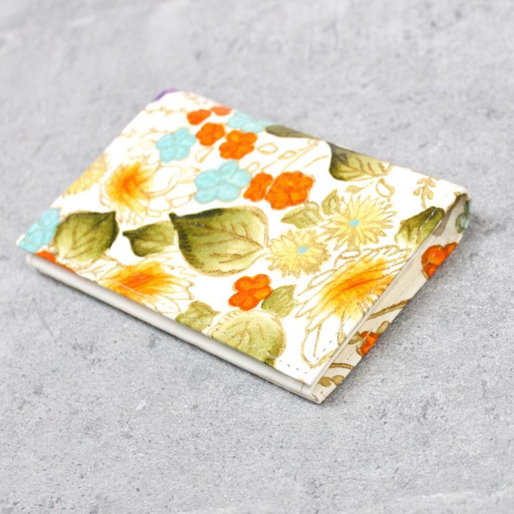 【姫革細工】【文庫革】 二つ折り パスケース カードケース 名刺入れ