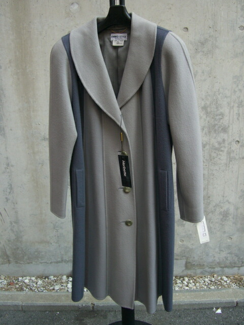 ウール ブルーラインコート【グレー】